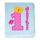 Number One Goddaughter baby blanket