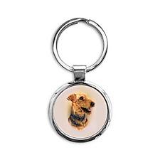 Airedale Terrier Round Keychain