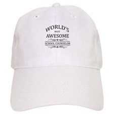 World's Most Awesome School Counselor Baseball Cap