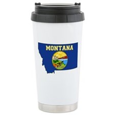 Montana Flag Ceramic Travel Mug