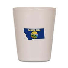 Montana Flag Shot Glass