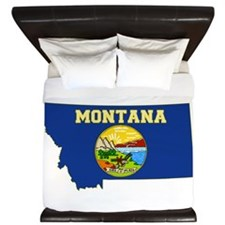 Montana Flag King Duvet