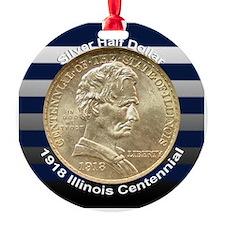 Illinois Centennial Coin Ornament