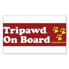tripawd on board paws gold Decal
