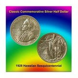 Hawaiian Sesquicentennial Coin Tile Coaster