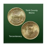 York County Maine Coin Tile Coaster