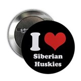 "I Heart Siberian Huskies 2.25"" Button (10 pack)"