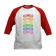 Rainbow Moustaches Baseball Jersey