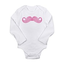 Pink Moustache Body Suit