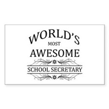 World's Most Awesome School Secretary Decal