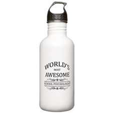 World's Most Awesome School Psychologist Water Bottle