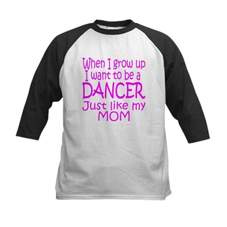 Dance Just Like Mom Kids Baseball Jersey