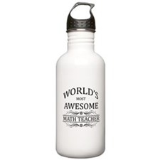 World's Most Awesome Math Teacher Water Bottle