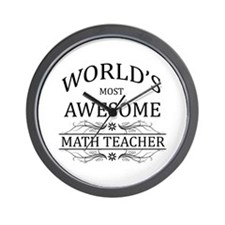 World's Most Awesome Math Teacher Wall Clock