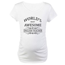 World's Most Awesome English Teacher Shirt