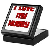 I LOVE MY HUBBY RED Keepsake Box