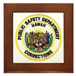 Hawaii Corrections Framed Tile