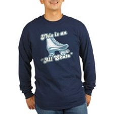 This is an All Skate Long Sleeve Navy T-Shirt