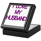 I LOVE MY HUSBAND PURPLE Keepsake Box