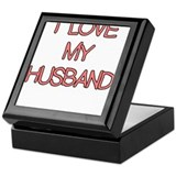 I LOVE MY HUSBAND CUTE PINK Keepsake Box