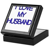 I LOVE MY HUSBAND BLUE Keepsake Box