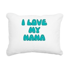 I LOVE MY NANA LIGHT BLUE Rectangular Canvas Pillo