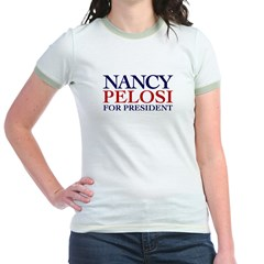 Nancy Pelosi for President Jr Ringer T-Shirt