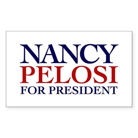 Nancy Pelosi for President Rectangle Sticker