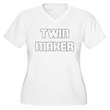 TWIN MAKER WHITE Plus Size T-Shirt
