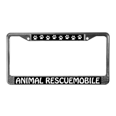 Animal Rescuemobile License Plate Frame