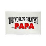 """The World's Greatest Papa"" Rectangle Magnet"