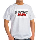 &quot;The World's Greatest Papa&quot; Ash Grey T-Shirt