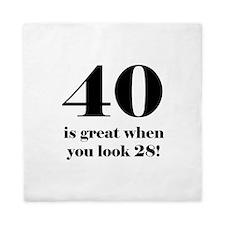 40th Birthday Humor Queen Duvet