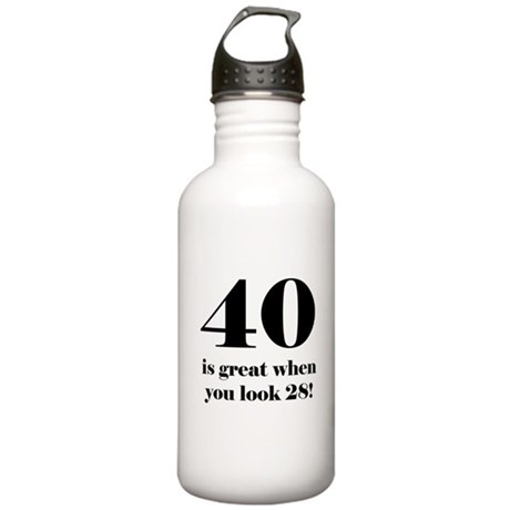 40th Birthday Humor Stainless Water Bottle 1.0L
