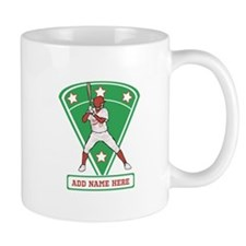 Personalized Red Baseball star player Mug