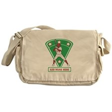 Personalized Red Baseball star player Messenger Ba