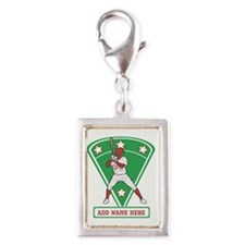 Personalized Red Baseball star player Charms