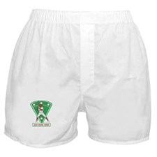Personalized Red Baseball star player Boxer Shorts