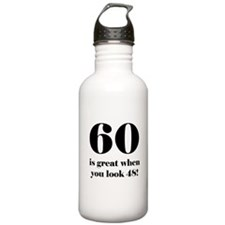 60th Birthday Humor Water Bottle