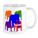 5 Color Bulldog Silhouette Mug