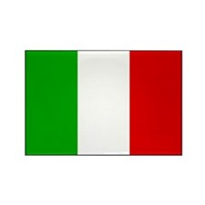 Italian Flag Black Border Rectangle Magnet (10 pac