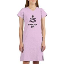 Keep Calm And Badger On Women's Nightshirt