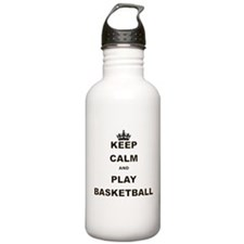 KEEP CALM AND PLAY BASKETBALL Water Bottle