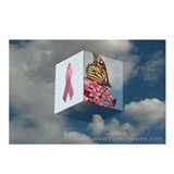 Pink Ribbon Postcards (Package of 8)