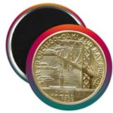"San Francisco Oakland Bridge Coin 2.25"" Magnet (10"