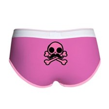 Pink Skull With Moustache Women's Boy Brief