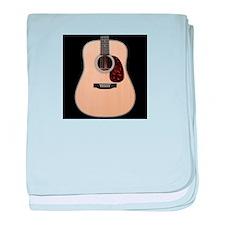 Stanard guitar baby blanket