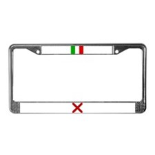 Italy and Alabama License Plate Frame