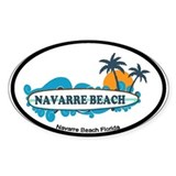 Navarre Beach - Surf Design.  Aufkleber