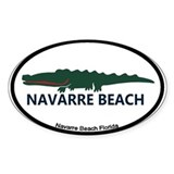 Navarre Beach - Alligator Design. Decal